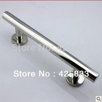 300mm 304 Stainless Steel Big Glass & Wood Door Handles Modern Furniture Dresser Chrome Silver Pulls and Knobs Drawer Hardware