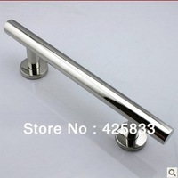 300mm 304 Stainless Steel Big Glass & Wood Door Handles Modern Furniture Dresser Chrome Silver Pulls and Knobs Drawer Hardware