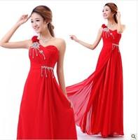 2014 newly evening dress red long design