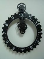 Faster Free Shipping Black gear big wall clock gear personalized clock