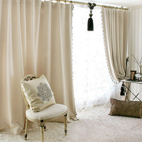 Black wire decorative pattern embossed full dodechedron curtain customize finished products beige only curtain without others