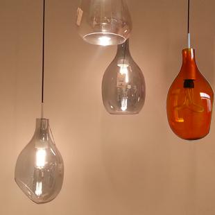 Luxury Vintage Antique New arrival personalized muleshoe glass pendant light vintage light bulb energy saving bulb  Europe Style