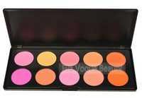 Wholesale 6pcs/lot 10 Color Makeup Cosmetic Blush Blusher Powder Palette Make Up Eyeshadow Palette
