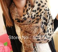 Size manufacturers wholesale 2013 new winter velvet leopard chiffon scarf against Sai female models fashion scarves