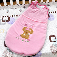 Free shipping 100% cotton sweet bunny sleeping bag