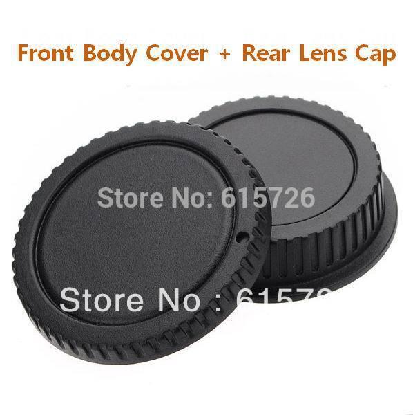 camera Body cap + Rear Lens Cap Hood Protector for canon 1000D 500D 550D 600D EF EF-S Rebel T1i eos Camera(China (Mainland))