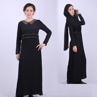 Потребительские товары fashion style dress, islamic abaya, arabic jilbab, muslim clothing for women casual dubai dress black plus size