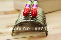 8.5CM purse frame, colorful kiss lock, Candy Bead Metal Purse Frame,purse making10 Colors Cute Coin Purse Frames,10Pcs/Lot