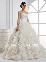 Wedding dress 2013 latest custom hand made top quality sweet women wedding gowns 0132