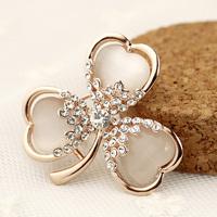 Lucky clover diamond - eye brooch female brooch accessories gift c4311
