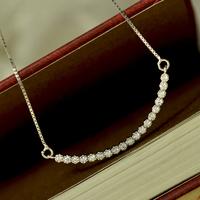 925 silver curviplanar elegant diamond necklace female short design fashion chain accessories jewelry gift b6205