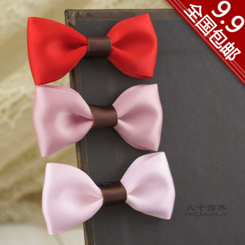Great child small accessories bow side-knotted clip hair accessory fringe hairpin hair accessory 76