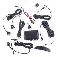 1pcs Free Shipping LED Display Wired Parking Sensor Car Reverse Backup Rada +4 Sensors With Retail Box