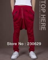 Hot high quality 2013 new men's black sweat harem pants men  pants tide men hip hop Wei pants  harem pants ST4-3903
