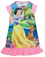 Free shipping 4pcs/lot baby girls pyjamas cartoon Snow White princess pajamas for girls/Children nightgown/kids sleepwears