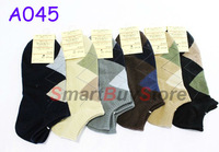 30pair/lot high quality handmade boneless suture sport socks, ankle sock,men sock,A045,Multi color Free Shipping