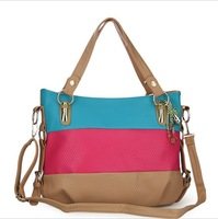 Fashion 2014 New Top Patchwork Bags Of Japanese And Korean Styles Women Messenger Bags/Shoulder Bags 6 Colors