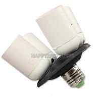 H3#R 4 in 1 E27 Light Lamp Base Bulb Socket Splitter Adapter Studio Photography Light Bases