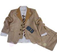 2013 new fashion high quality brown 3pcs boys wedding suit free shipping