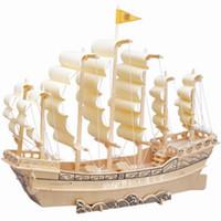 Handmade diy assembled model ship wooden model of three-dimensional puzzle 3d assembling building