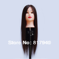 Free shipping! 100% Chemical fiber high temperature wire  Hairdressing cosmetology Manikin Training Head  with free clamp holder