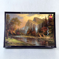 Quality thickening luminous puzzle 1000 the scenery oil painting decorative painting adult puzzle glue