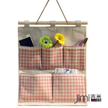 Single zakka fluid fabric small bag wall hanging storage bag wall storage bag