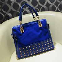Women's handbag fashion scrub 2013 rivet bag portable multi-purpose women's messenger bag handbag big bags