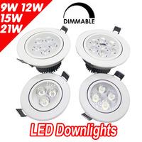 20pcs/lot 3W 5W 7W Ceiling downlight Epistar LED ceiling lamp Recessed Spot light 85V-245V for home illumination Freeshipping