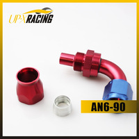 High Quality AN6-90 DEGREE REUSABLE SWIVEL TEFLON HOSE END FITTING hose fitting adapter