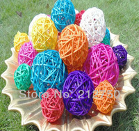 5CM free shipping multicolors fashion creative colorful balls rattan handmade home decoration crafts