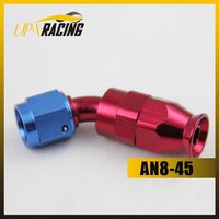High Quality AN8-45 DEGREE REUSABLE SWIVEL TEFLON HOSE END FITTING hose fitting adapter