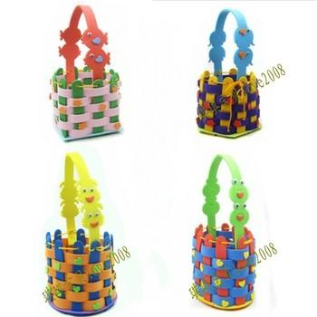Eva toy knitted basket child diy educational toys