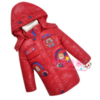 Free shipping Mitch child down coat male child baby boys medium-long cartoon
