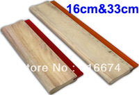 Free shipping Discount Cheap 2 pcs Silk Screen Printing Squeegee 16cm/33cm (6.3/13inch) Ink Scaper Tools Materials