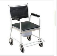 Genuine Foshan Commode chair FS-693 toilet seat potty chairs for the elderly wheelchair supplies seat belt pulley