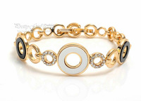 Wholesale Fashion Jewelry New 2013 Bracelets & Bangles for Women,18K Gold Filled Loops Crystal Bracelet Enamel