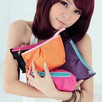 Korean Women Lady's Makeup Case/MP3/Phone Cosmetic Storage Pouch Fashion cosmetic bag organizer A handbag