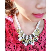 2013 New Arrival Fashion Gold Chunky Choker BIb Statement Necklaces for women  N300 Free shipping