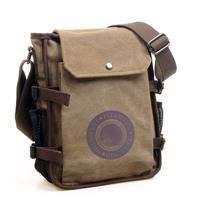 2013 male vintage canvas shoulder bag messenger bag small sports bag casual man bag