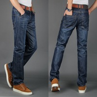 2013 summer mercerized cotton jeans male straight lowing pants