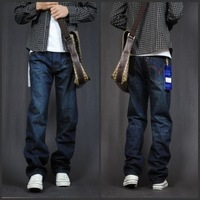 3 2013 summer loose straight jeans male brief male jeans