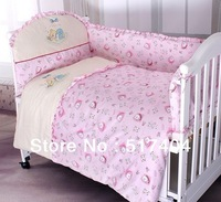 10pc bed linen for the newborns,baby bedding sets 100% cotton with filling,size140*70/130*70cm, baby crib bedding sets