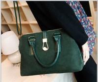 New Women Leather Handbags Genuine Cowhide Scrub Handbags Girls Bags Fashion Purses High Quality Shoulder Bags Free Shipping