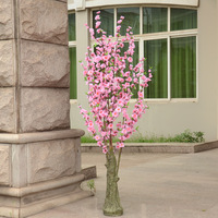 High artificial peach tree peach cherry tree cherry tree artificial flower artificial flower floor decoration