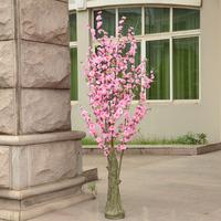 High artificial peach tree peach cherry tree cherry tree artificial flower artificial flower floor decoration