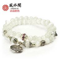 New 2013 claretred stone sterling silver women bracelet female white crystal bracelet ,brand jewelry bracelet B15