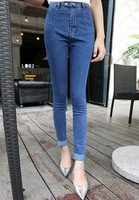 Autumn new arrival fashion skinny pants high waist pencil pants blue jeans female