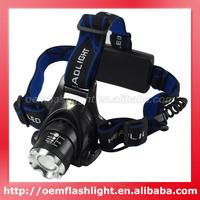 Cree XM-L U2 3-Mode 1000 Lumens Zoom Headlamp (2 x 18650)