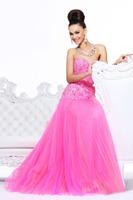 Fuchsia And Orange Tulle Sweetheart Beading Appliques Free Shipping Mermaid Fashion Lady Dresses Evening